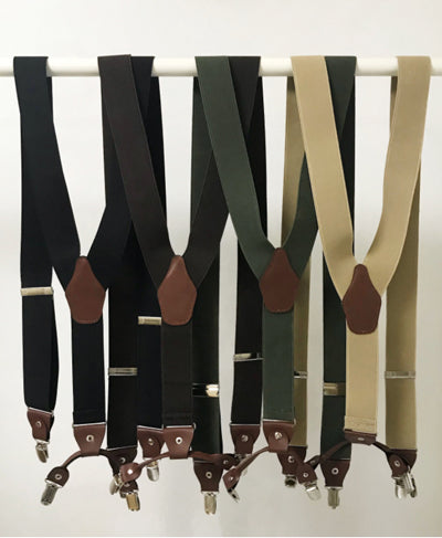 Holdup Suspender - Black, Brown, Khaki, Beige