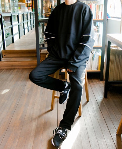 Line Sweatpants - Black
