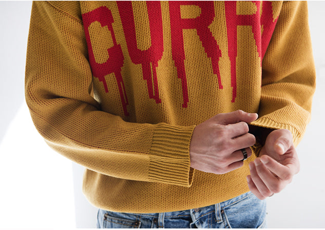 CURRY Turtleneck Knit Sweater - Mustard