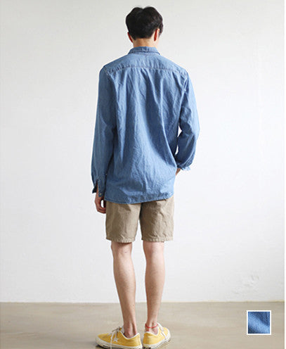 Pocket Denim Pullover Shirts