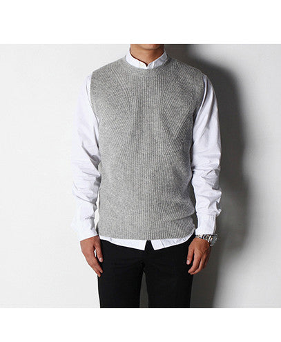 Round-Neck Sweater Vest