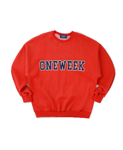 """ONEWEEK"" Sweatshirts - Red"