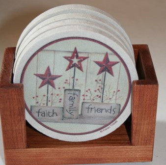 Faith, Family, Friends Coaster Gift Set