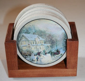 Home For The Holidays Coaster Gift Set
