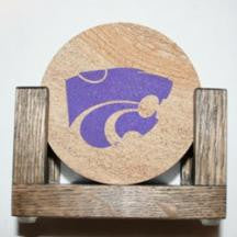 Kansas State University Coaster Set