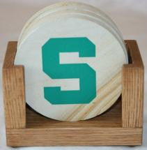 Michigan State Coaster Set