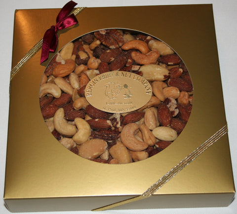 Deluxe Mixed Nut Selection - Gold Gift Box - 16oz