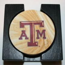 Texas A & M Coaster Set