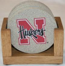 University of Nebraska Coaster Set