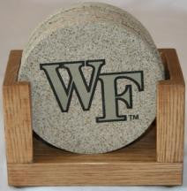 Wake Forest University Coaster Set