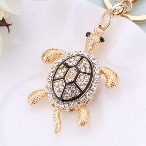 Fashion Charms Crystal Turtle Key Holder