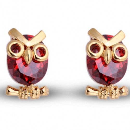 Jewelry Owl Gold Plated Stud Earrings