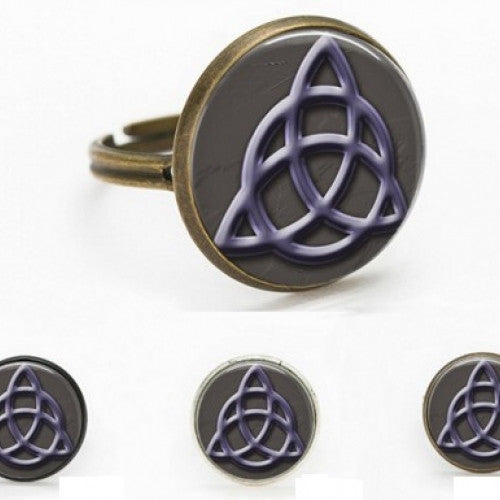 Fashion Totem Glass Witchcraft Adjustable Ring