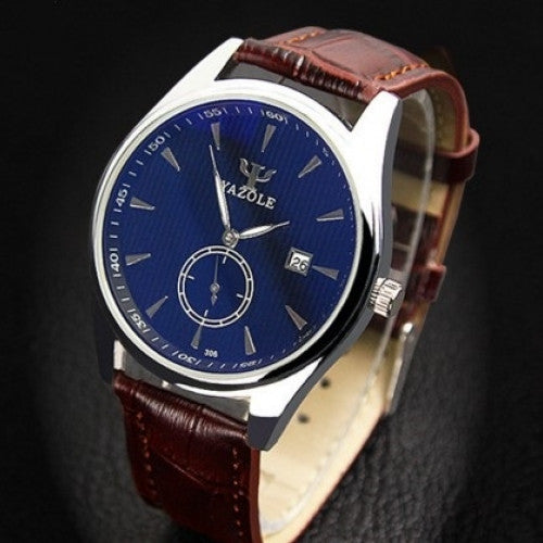 Fashion Leather Luminous Hands Quartz Watch