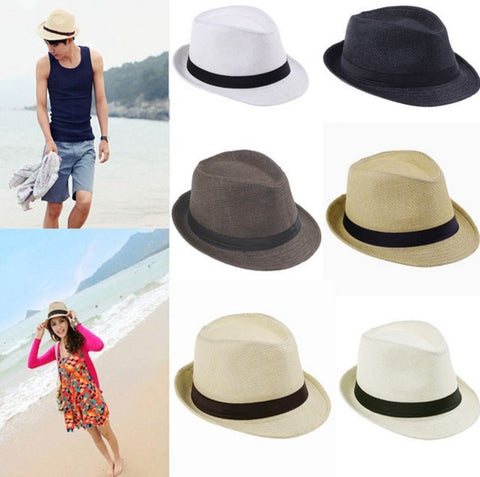 Beach Sun Straw Panama Hat