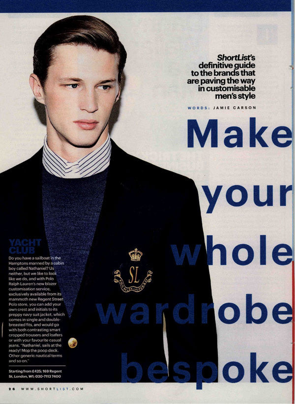 Shortlist Magazine – Make Your Whole Wardrobe Bespoke