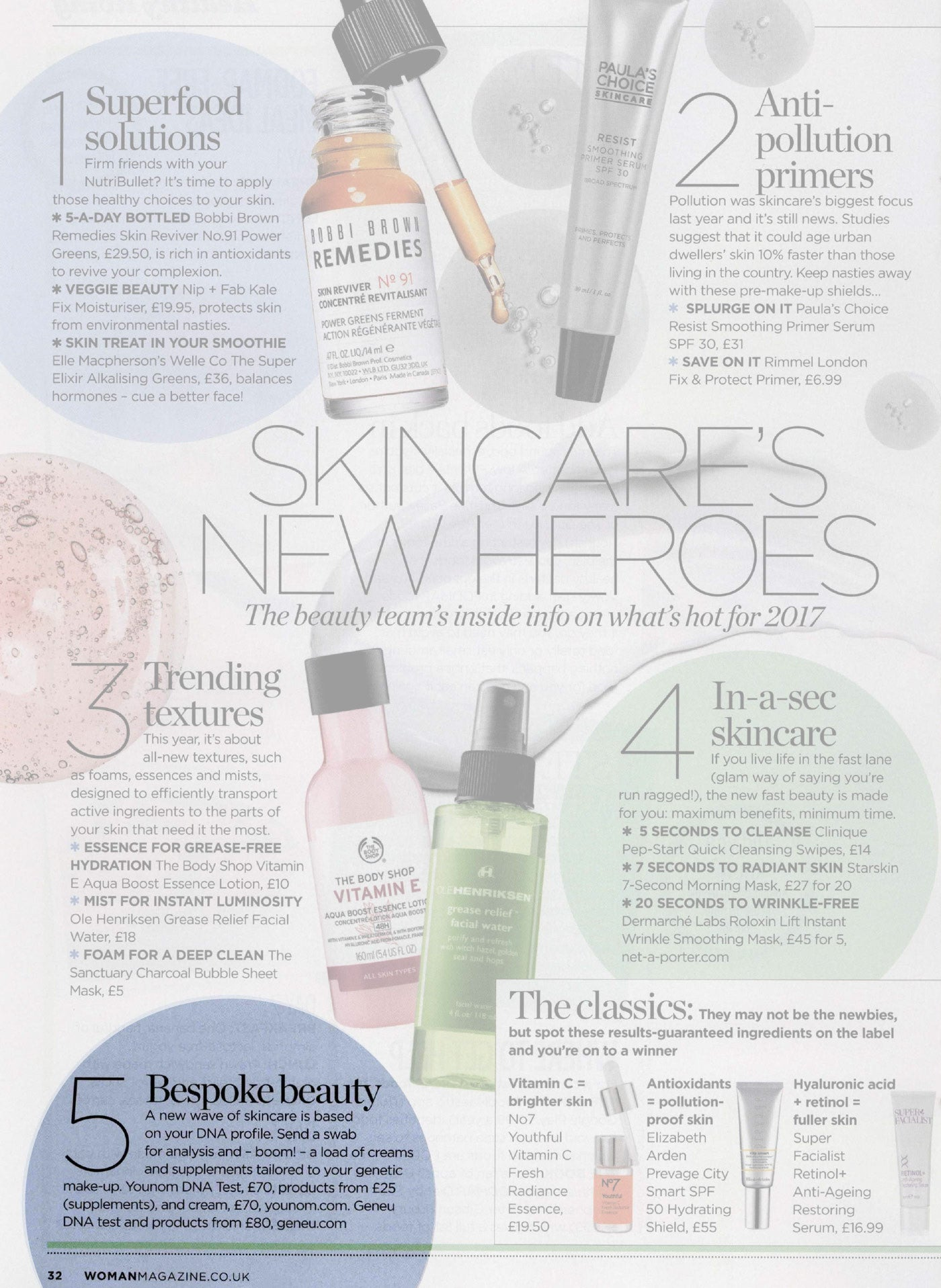 Woman Magazine – Skincare's New Heroes