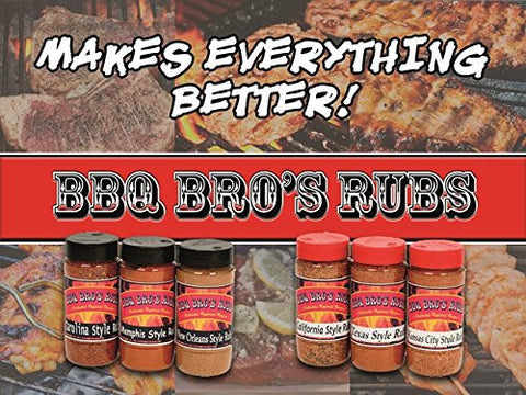 BBQ BROS RUBS {Southern Style} the Ultimate Barbecue Tailgating Set can be used for Grilling, Cooking, Smoking as a Meat & Rib Rub Backed with 100% Customer Guarantee