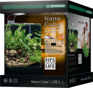 Dennerle Nano cube 20 litrov complete+ Soil in Nano power LED 5.0