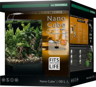 Dennerle Nano cube 30 litrov complete+ Soil in Nano power LED 5.0