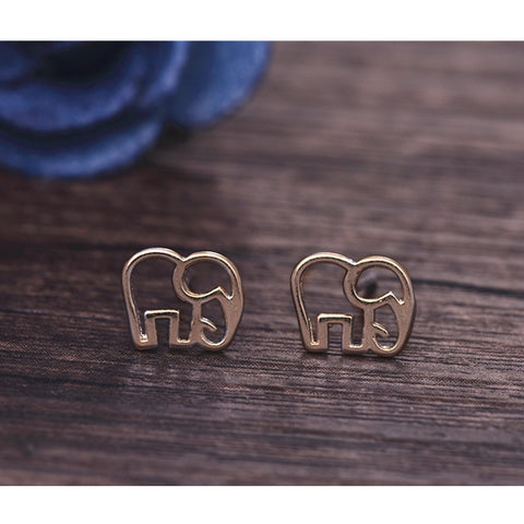 Image of Tiny Elephant Stud Earrings