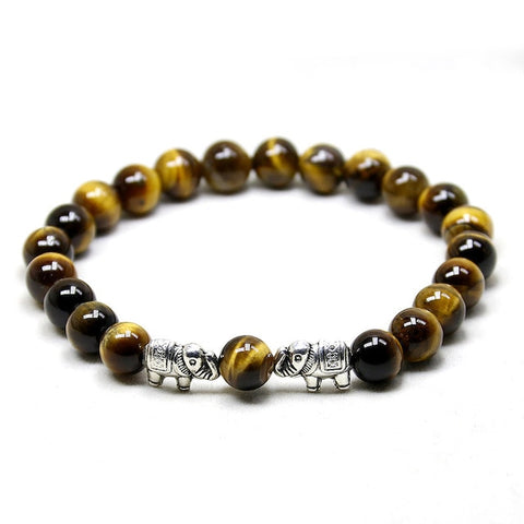 Image of Lava Onyx Tiger Eye Bracelet