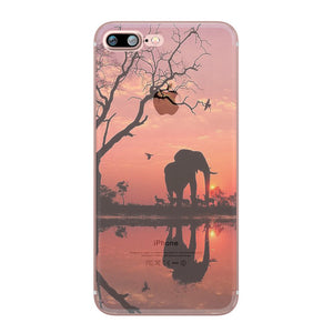 Elephant Sunset Silicone iPhone case