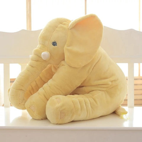 Yellow Super Cuddly Elephant Plush Pillow