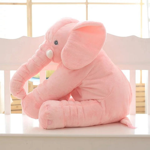 Pink Super Cuddly Elephant Plush Pillow
