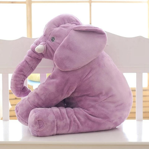 Violet Super Cuddly Elephant Plush Pillow