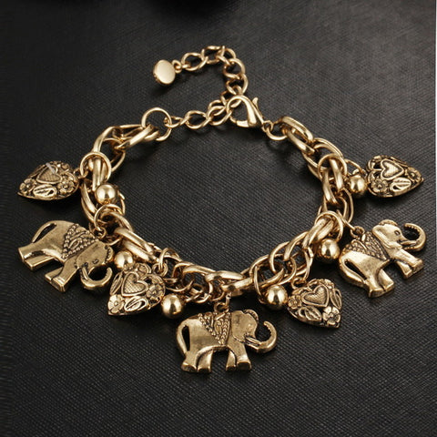 Image of Boho Elephant & Charms Bracelet
