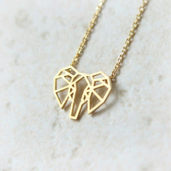 Geometric Elephant Necklace