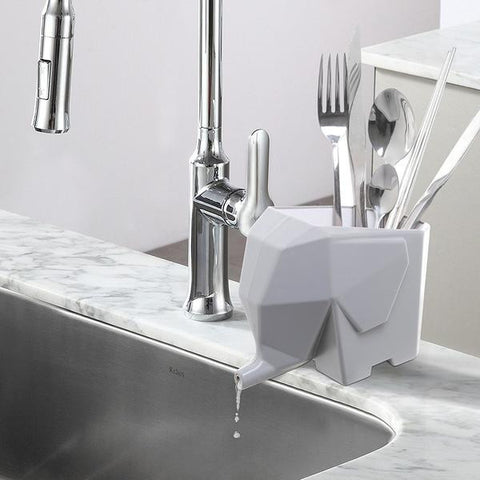 Image of Elephant Cutlery Drainer Box - contemporary home