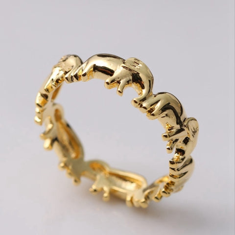 Lucky Elephant Finger Ring