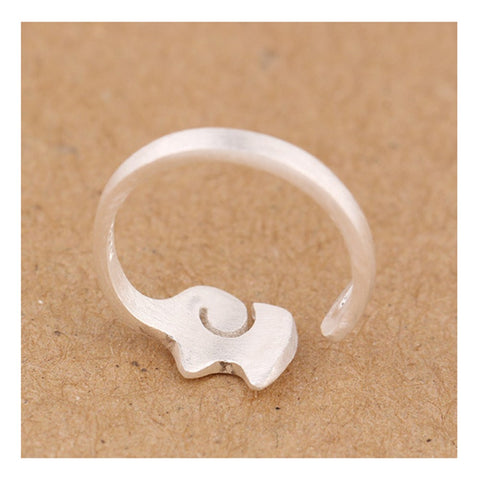 Sterling Silver Elephant Adjustable Ring