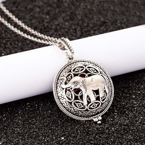 Dreaming Elephants Essential Oil Pendant Necklace