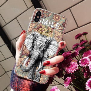 Smile Life is Beautiful Elephant iPhone Case