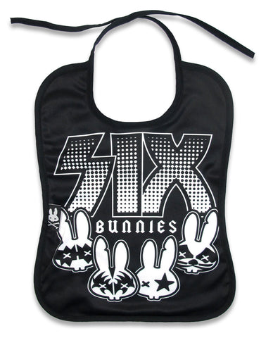 Six Bunnies - Baby Bib - Rock Group