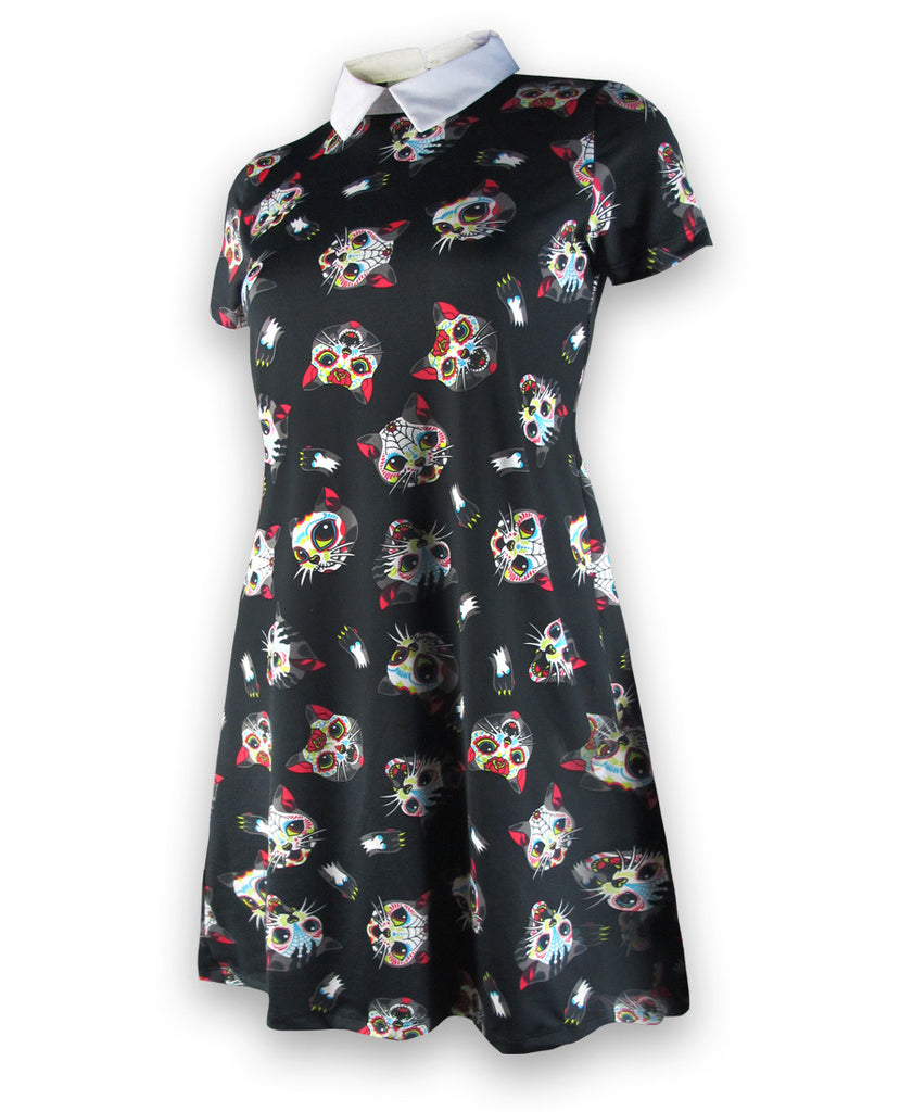 Liquorbrand Cats skater dress - goth-rock-punk-metal-rockabilly