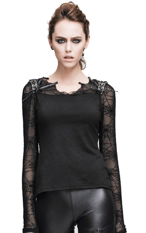 Spider Web Sleeve Dusk Top