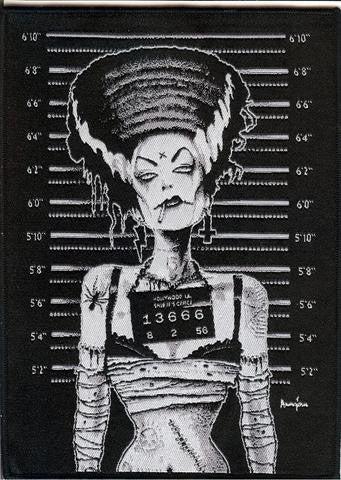 Bride of Frankenstien patch rockabilly-punk
