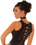 Corset tank top -goth-rock-metal-punk