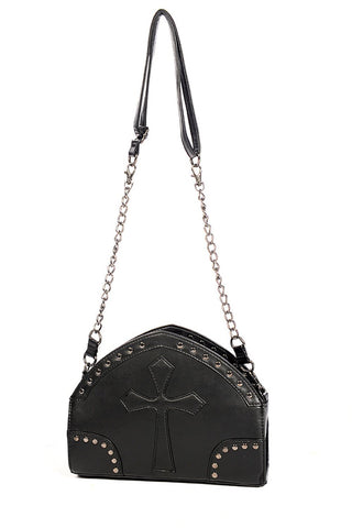 Black Cross Shoulder bag -goth-rock-metal