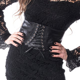 Corset Belt black -goth-metal