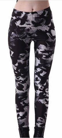 Black Raven Leggings -goth-rock-metal-punk