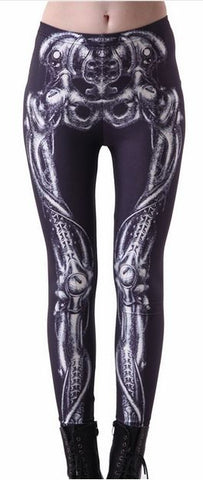 Dem bones leggings skeletal print