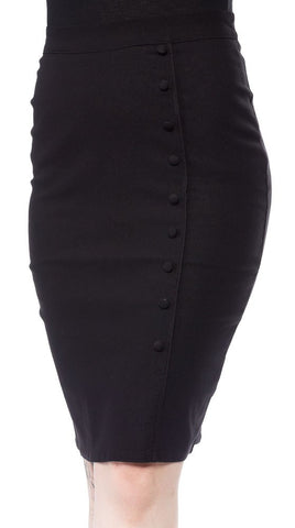 Sourpuss bombshell pencil skirt black -rockabilly-vintage
