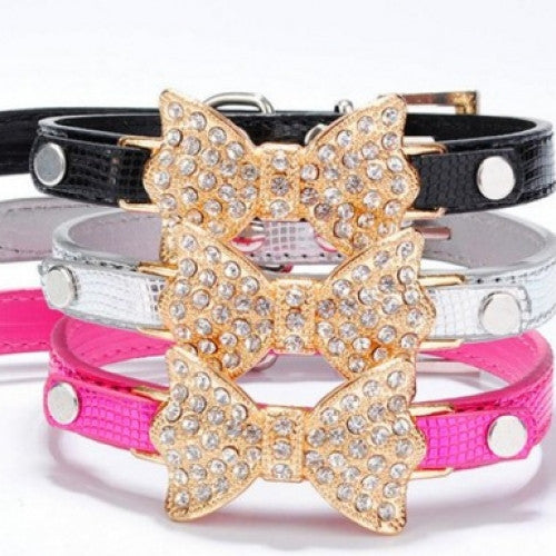 Pretty Bling Rhinestone Pet Collar
