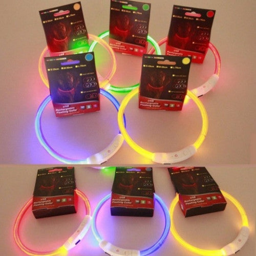 Adjustable and Rechargeable LED Pet Collar