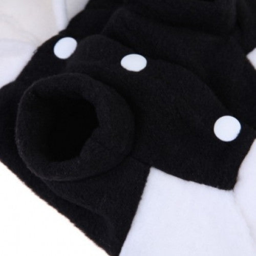 Fleece Panda Ear Hoody Pet Coat